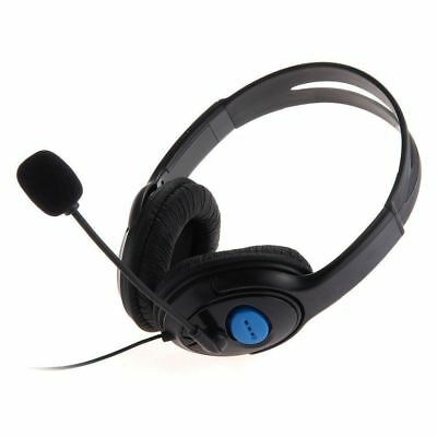 Deluxe Black Headset Headphone With Mic Volume Control For Xbox One Ps4 Laptop