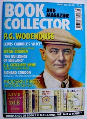 BOOK & MAGAZINE COLLECTOR Aug 2001 No 209 Wodehouse Lewis Carroll Seton Gordon