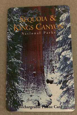 Vintage Rare Sequois Kings Canyon Collector Series #1 Prepaid Card ~ Unused