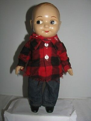 Vintage Buddy Lee Doll Red Flannel Shirt Lee Jeans Scarf Nice Original Condition