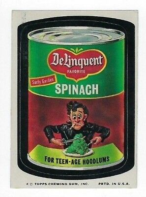 1974 Topps Wacky Packages 9th Series 9 DELINQUENT SPINACH nm- o/c