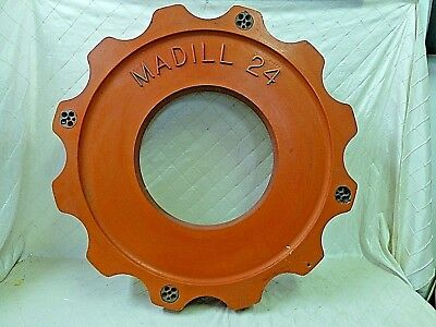 Wood Foundry Mold Madill 24 Gear Cog Pattern Steampunk Industrial Red Wheel