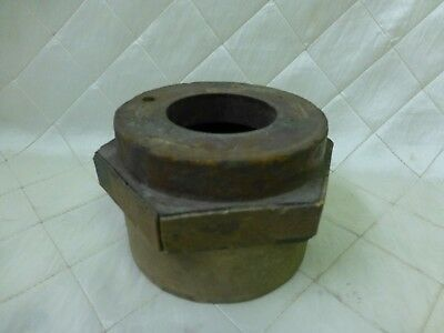 Wood Foundry Casting Mold Pattern Large Nut Bolt Steampunk Industrial Art 4 1/2""