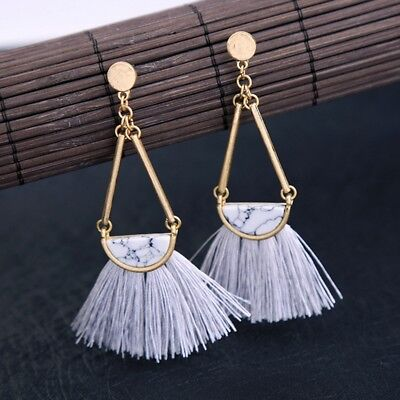 Fashion Women Boho Bohemian Tassels Earrings Long Hook Drop Dangle Jewelry Gift