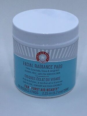First Aid Beauty® Facial Radiance Pads 60 Ct NEW SEALED FRESH GENUINE $28  *READ