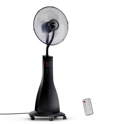 Devanti Portable Misting Fan with Remote Control - Black