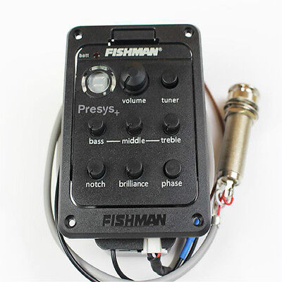 Fishman Presys+ 201 Acoustic Guitar Preamp Piezo Pickup 4-Band EQ Equalizer us