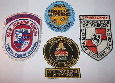 1963 Porsche PCA Weekend 4 Patches San Joaquin Orange Coast San Diego Sacramento