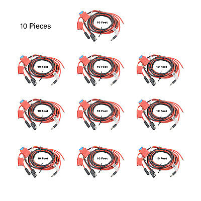 10X 32V 15A Power Cable for Motorola CDM1550 XPR4380 MCS2000 PM1500 Mobile Radio