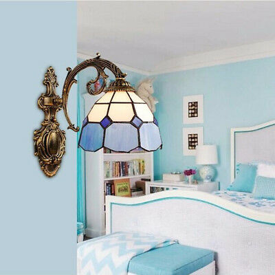 Tiffany Style LED Wall Sconce Light Vintage Lamp Cafe Indoor Lighting Fixture