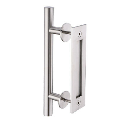 Stainless steel Pull and Flush Door Handle Sliding Barn Door Hardware Handle