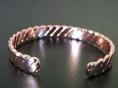 Magnetic Bracelet, Pure Copper with Neodymium Magnets 15000 Gauss Regular Sz17cm