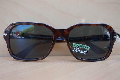 8776aaec8f New Unisex Persol 3136-S 24 58 Hand Made Havana Green Polarized Sunglasses   390