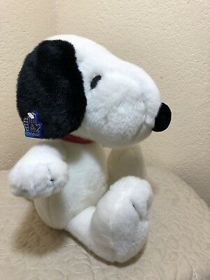 "Snoopy Peanuts Stuffed Plush Applause Red Vinyl Collar 14"" Tall Plastic Tag  EUC"