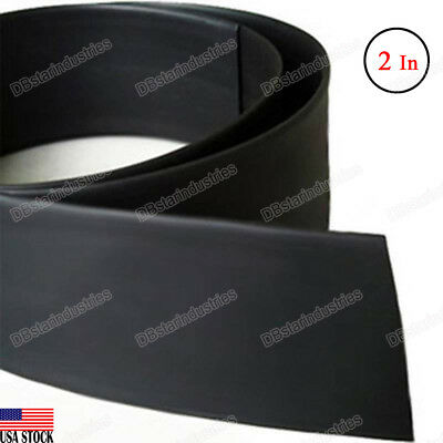 Black Heat Shrink Tubing 2 inch (50 mm) 2:1 Ratio Sleeve Wire Wrap 4 Feet