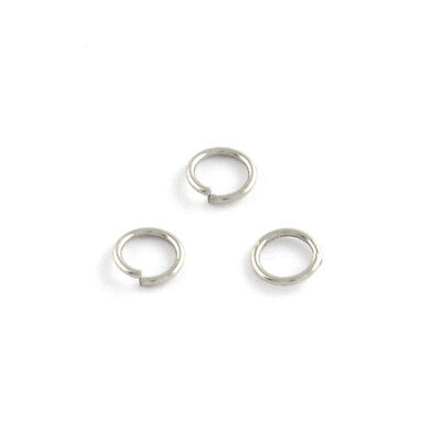 100x 304 Stainless Steel Open Jump Rings Rainbow Plated Unsoldered Loop 5x0.8mm
