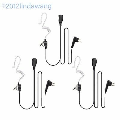 3 * Black Headst Earpiece Mic for Motorola SP10 SP21 SP50+ SU220 Portable Radio