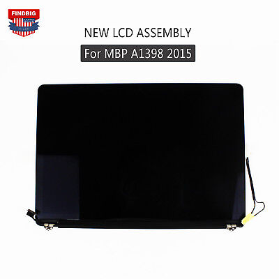 """15.4"""" Full LCD Screen Display Assembly For Apple Macbook Pro A1398 Mid 2015"""