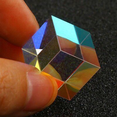 2cm Prism Optical Glass RGB Combiner Splitter Square Cube for Physics Teaching