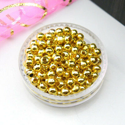 Gold Plated Metal Spacer Beads 2.4mm,3.2mm,4mm,5mm,6mm,8mm R0053