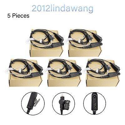 5* Headset Earpiece Mic for Motorola MTX8250 MTX9250 PRO5450 GP540 Two Way Radio