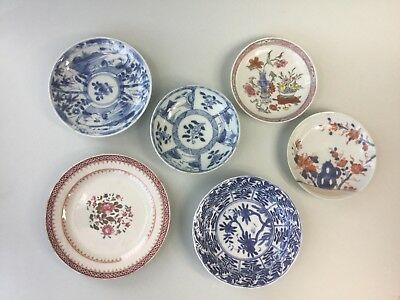 A Lot of 6 Small Plates / Saucers - 18th Century
