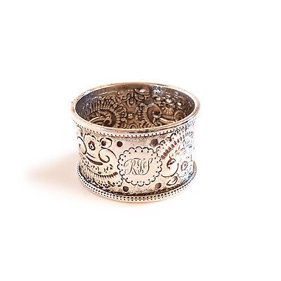 Antique Solid Silver Napkin Ring - Birmingham 1912