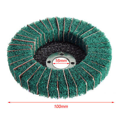 Abrasive Brush Wheel Polishing Sanding Disk Fiber Buffer Car Rotating Pad Good