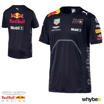 Sale! 2018 Red Bull Racing F1 Mens Team T-Shirt Official Puma Formula One