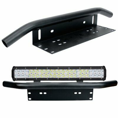 "20 inch CREE LED Light Bar 23"" Black License Mount Bull Bar Number Plate Frame"