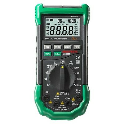 MS8229 MASTECH 5 in 1 Profi Multimeter Lux Schall Temp Feuchtigkeit Autoranging