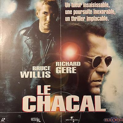 CHACAL (LE) WS VF PAL LASERDISC Bruce Willis, Richard Gere, Sidney Poitier