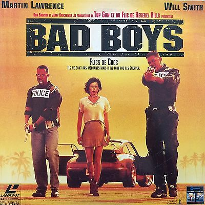 BAD BOYS WS VF PAL - LASERDISC Will Smith, Martin Lawrence, Lisa Boyle