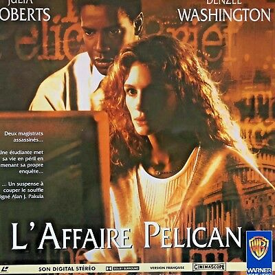 LASERDISC - L'AFFAIRE PELICAN - WS VF PAL  Julia Roberts, Denzel Washington