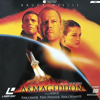 LASERDISC -ARMAGEDDON WS VF PAL- Bruce Willis, Billy Bob Thornton - COMME NEUF
