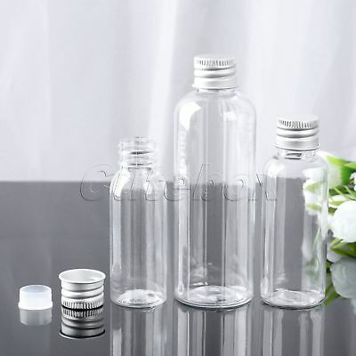 5Pcs 30/50/100ml Cosmetic Container Jars Perfume Bottle PET Travel Aluminum Cap