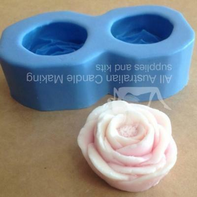 Camelia Silicon Soap Mould - 2 cavities