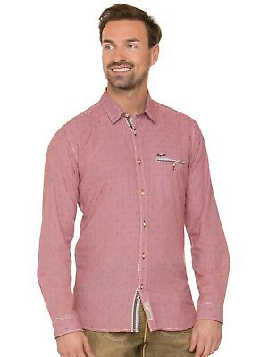 Stockerpoint Traditional Shirt Long Sleeve Modern Fit Taylor Red