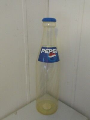 "Pepsi Cola Giant Bottle Plastic Bank Ralphco 24"" Tall"
