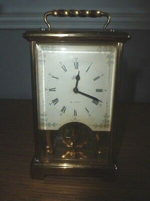 Vintage German ~Schatz & Sohne~ 59 Brass 8 Day Carriage Clock