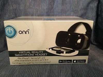 "ONN Virtual Reality Smartphone Headset Fit up to 6"" screen Bonus Frozen Stickers"