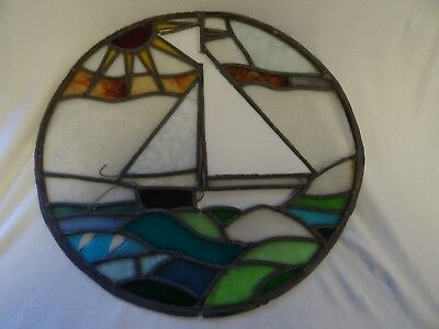 Lovely 1930s circular stained window