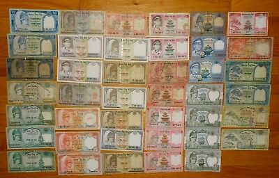 1,086 Nepal Rupees 41 pieces spendable banknote lot