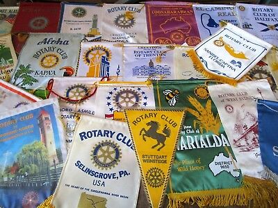 Rotary International Club Flag Banners Various Locations You Select  Vintage