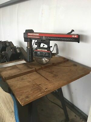 """10"""" CRAFTSMAN RADIAL ARM SAW - Contractor Series - Pick up only"""