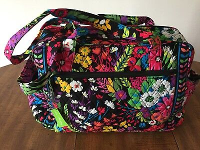 Vera Bradley Make a Change Baby Diaper Bag Field Flowers  Floral Quilted NWT