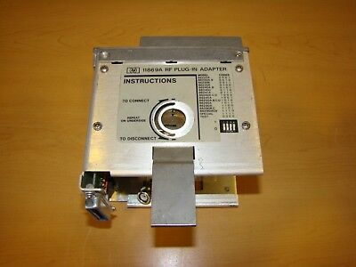 HP / Hewlett Packard / Agilent 11869A RF Plug-In Adapter. Unit Not Tested!