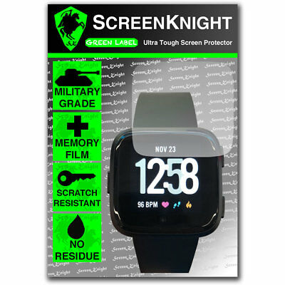 ScreenKnight FITBIT VERSA SCREEN PROTECTOR Military Shield - PACK OF 1