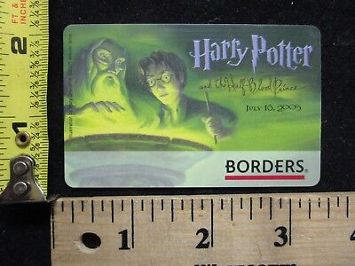 Harry Potter Half Blood Prince Book July 16 2005 Borders Waldenbooks Gift Card