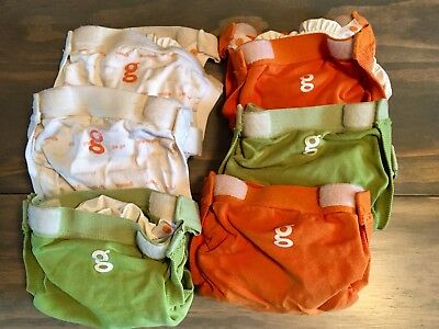 6 Gdiapers g pants with inserts size small lot